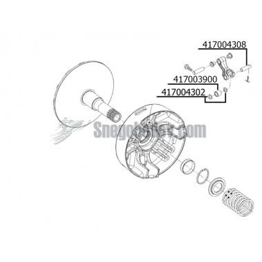Ремкомплект вариатора ROTAX 550 (417004308, 417003900, 417004302)